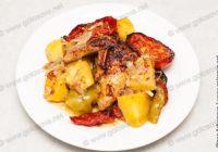 жаркое из курицы с овощами
