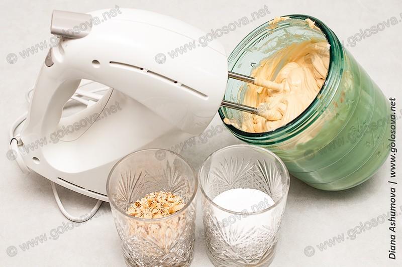 крем для песочных коржей со сгущенкой