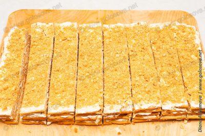 многослойный пирог из песочного теста