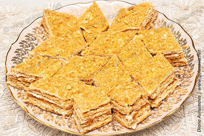 пирог из песочного теста с масляным кремом