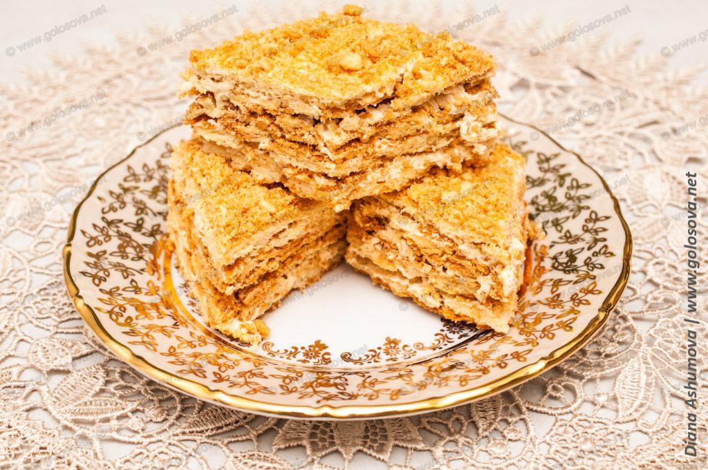 порционный песочный пирог с масляным кремом