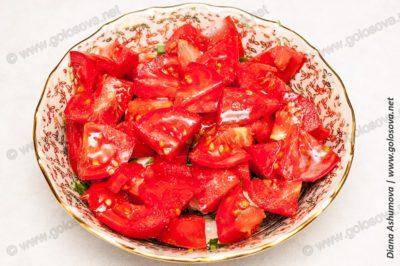 салат брынза с помидорами
