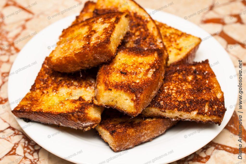 гренки из белого хлеба с молоком
