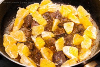 печень с апельсинами
