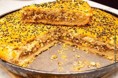 пирог с фаршем и яйцом в духовке