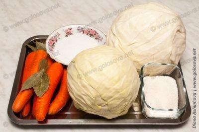 ингредиенты для квашения капусты