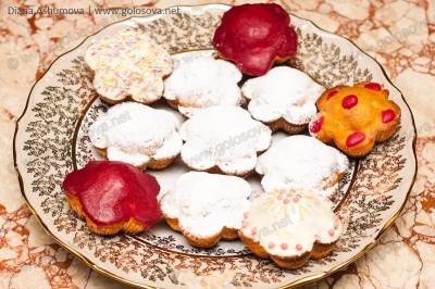 домашние кексики с изюмом и кумкватом в формочках