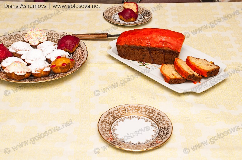 домашние кексы с кумкватом и изюмом