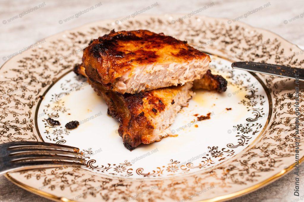 сочный свиной стейк в духовке