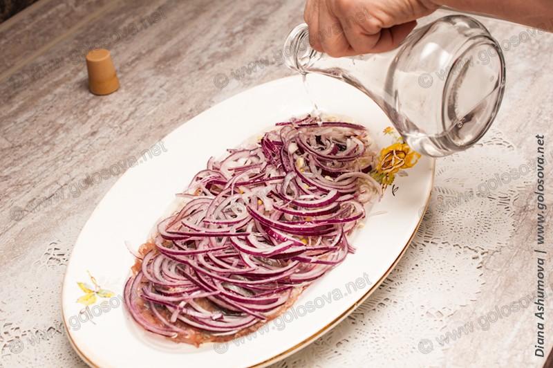 селедка в уксусе с луком