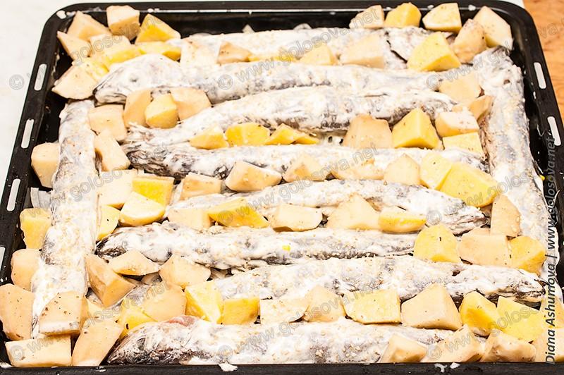 рыба путассу с кунжутом в духовке
