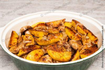 рецепт с айвой с куриной грудкой в утятнице