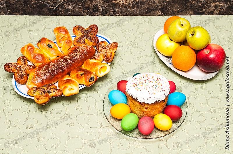 выпечка на Пасху: куличи, рулеты, булочки