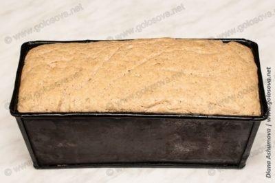 ржано-пшеничный хлеб в форме