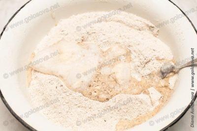 ржано-пшеничный хлеб на дрожжах в духовке