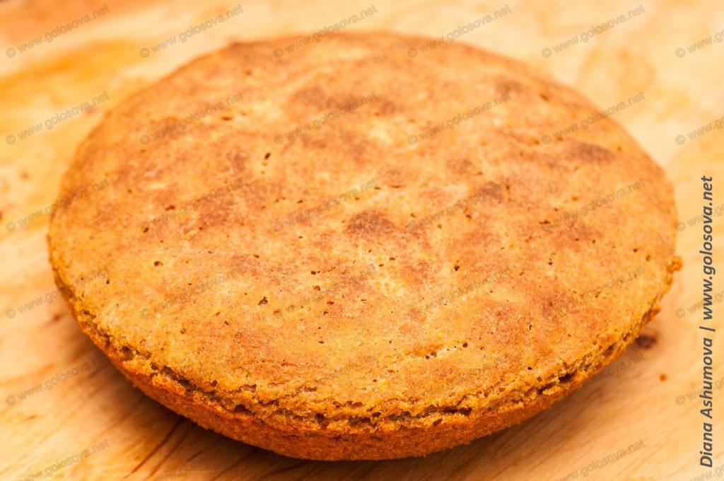 домашний ржано-пшеничный хлеб в духовке