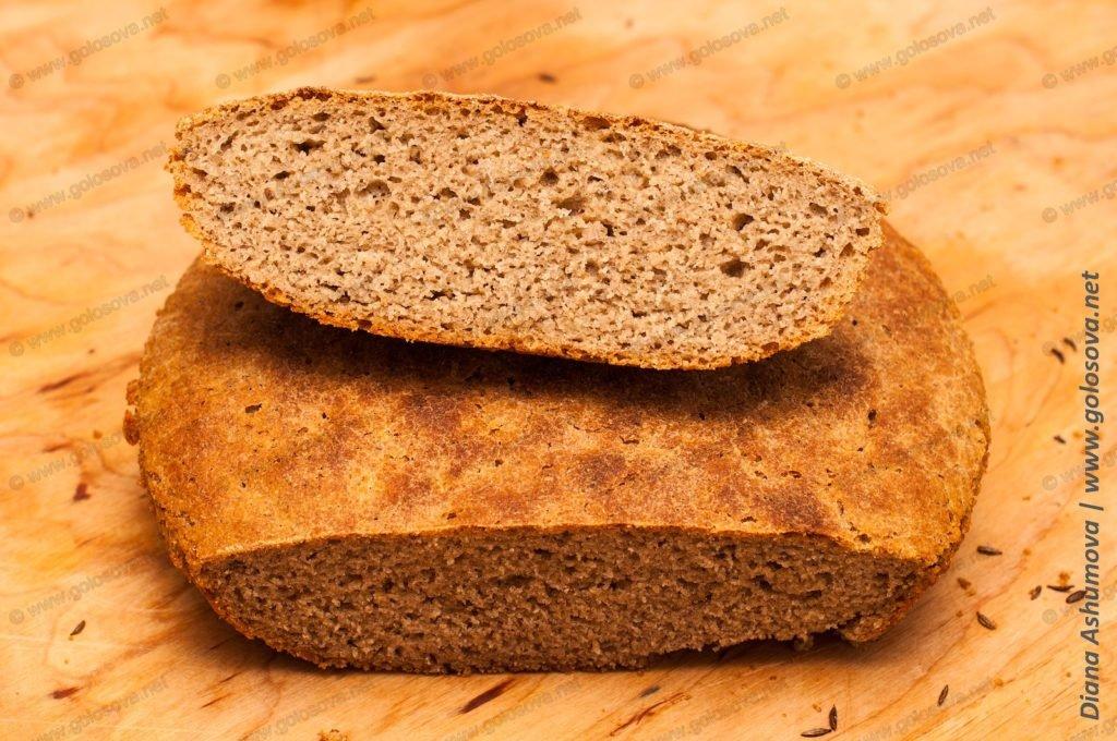 домашний серый хлеб