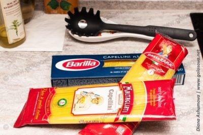 капеллини: барилла, паста зара, maltagliati