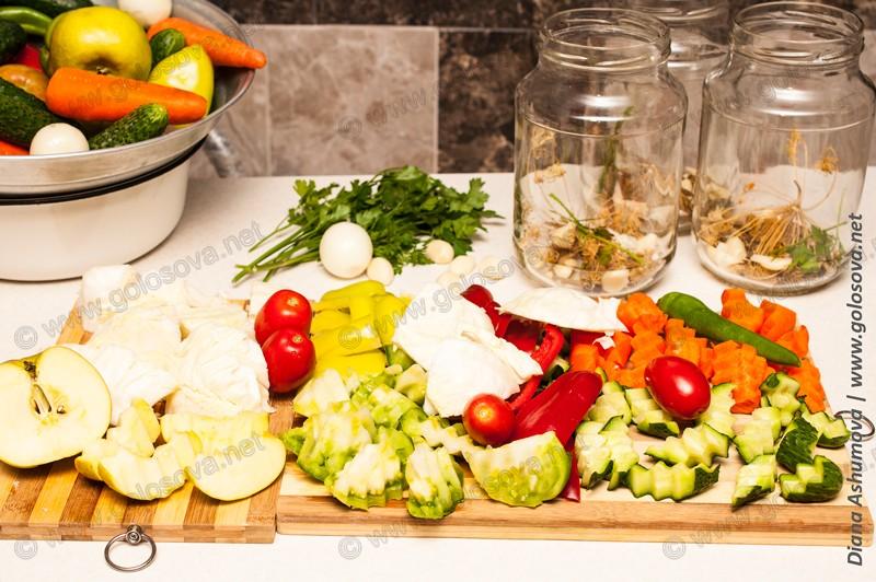 овощное ассорти на зиму с капустой