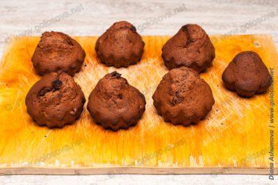 кексы с какао в силиконовых формочках