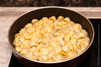 пельмени домашние жареные на сковороде
