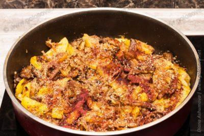 картошка, грибы и капуста с сумахом