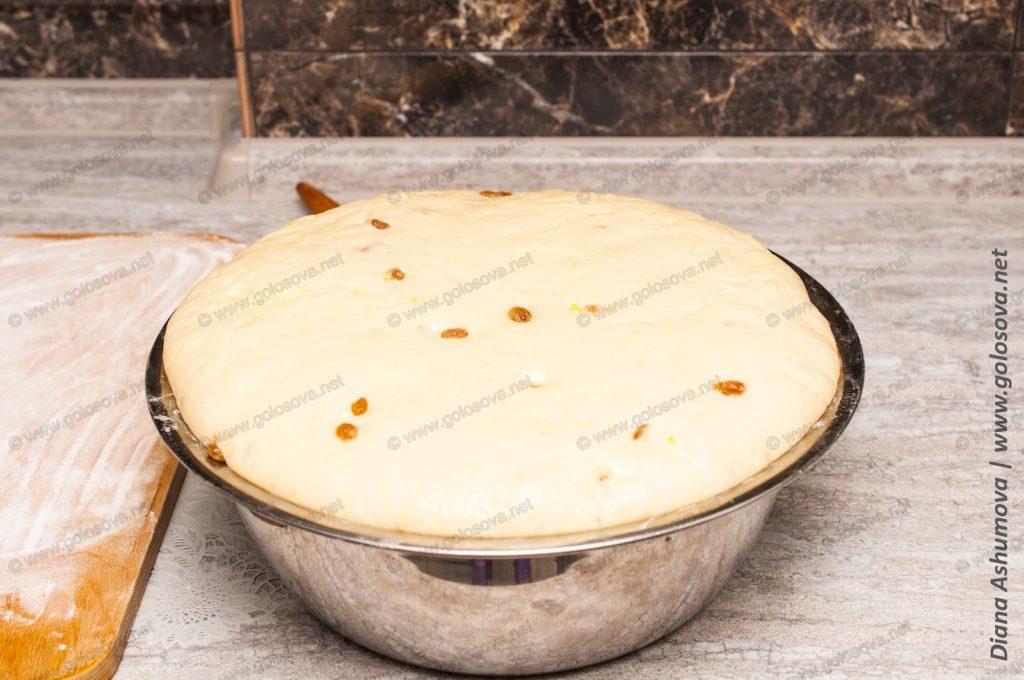 дрожжевое опарное тесто на булочки на молоке