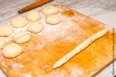 как сформировать булочки?