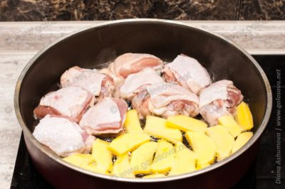 жарим куриные кусочки для жаркое