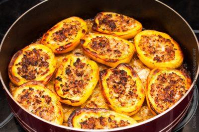 фаршированный картофель с фаршем в духовке