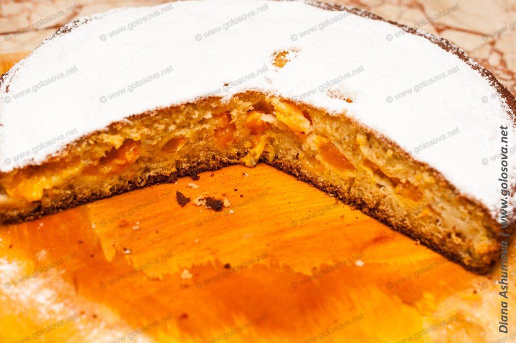 мандариновый пирог из свежих мандаринов