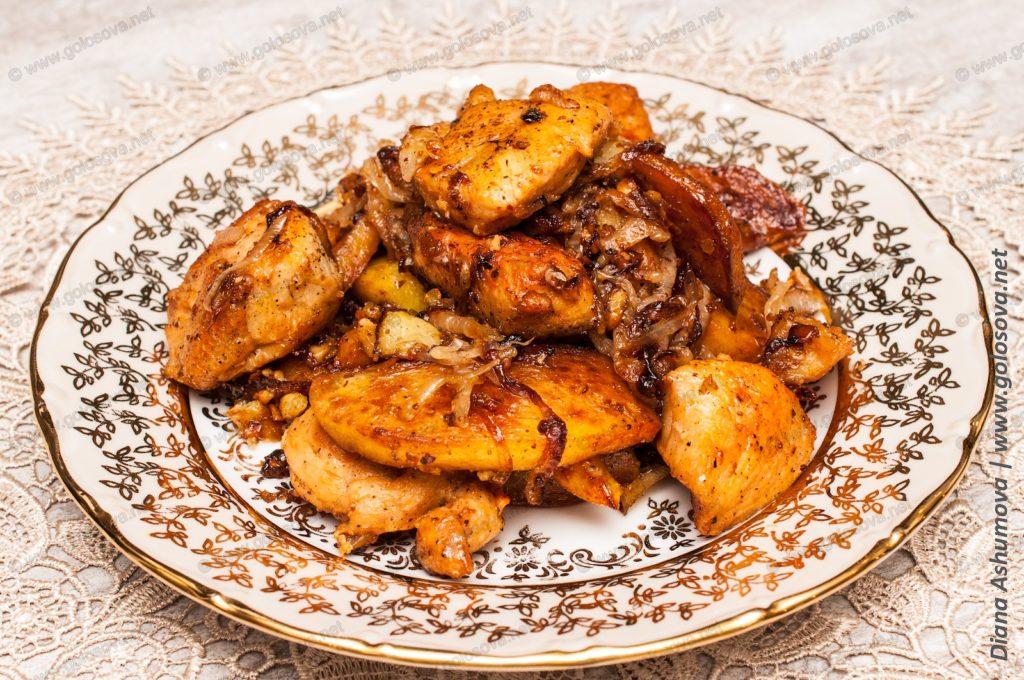 жаркое из куриной грудки с картошкой