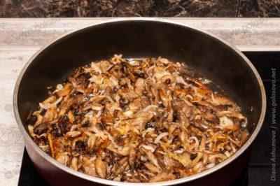куриное филе с жареными грибами