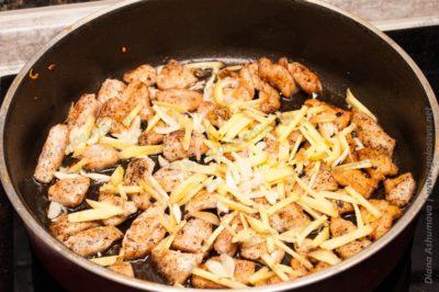 куриное филе с имбирем