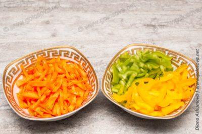 морковь и перец для супа