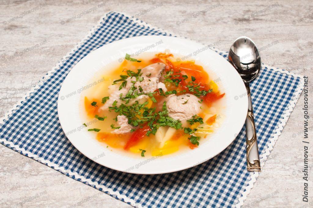 суп из плеча индейки и овощей