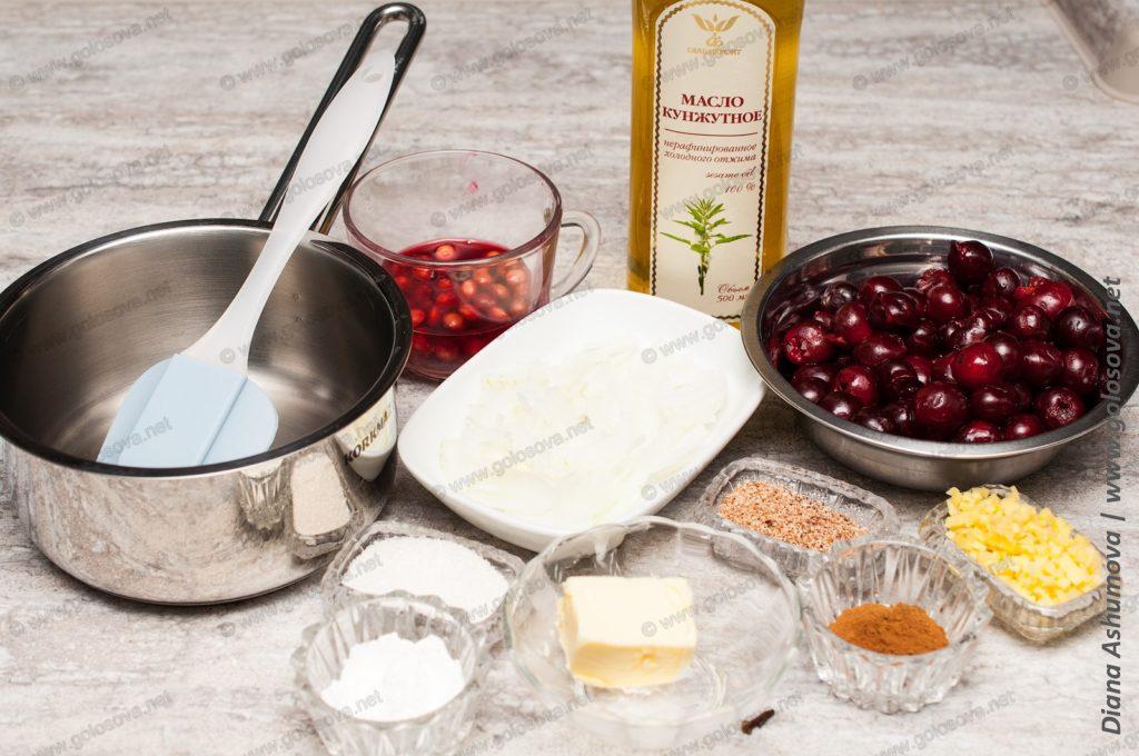 набор ингредиентов для вишневого чатни