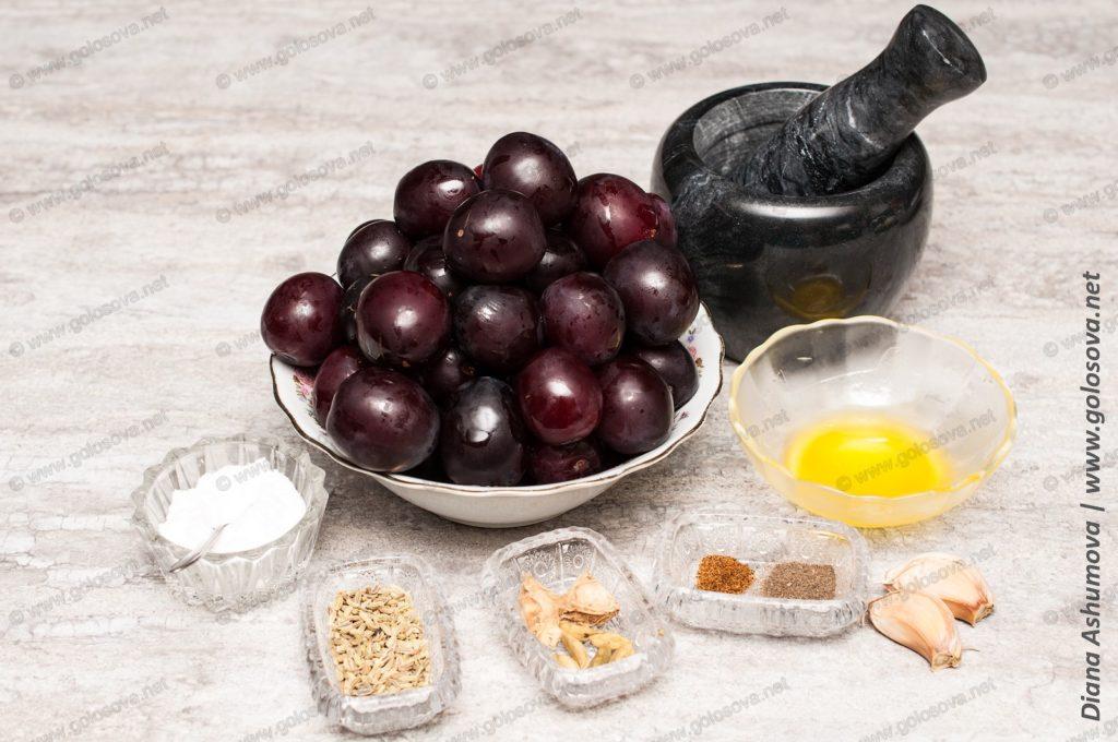 алыча и специи на соус