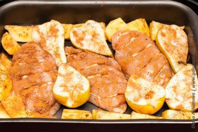 куриные грудки с грушами для запекания