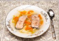 рыбный суп из кеты