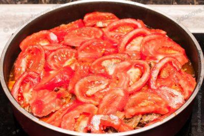 баранина по арабски с помидорами