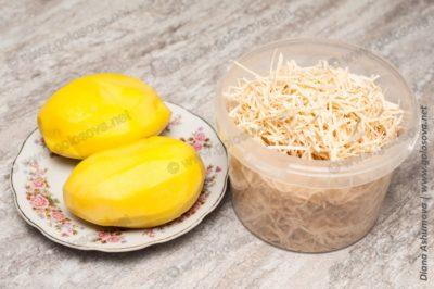 яичная лапша и картофель