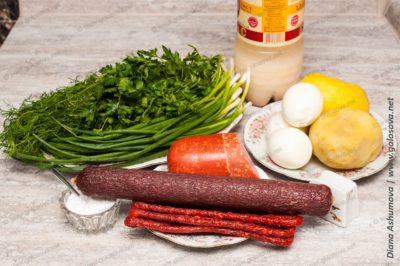 продукты на окрошку