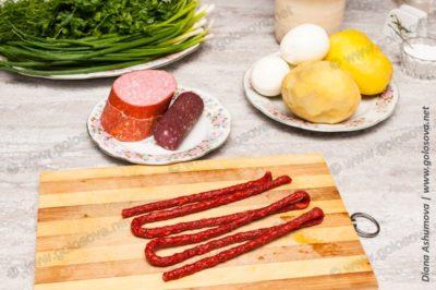 колбаса для окрошки с квасом