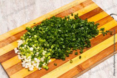 зеленый лук для окрошки