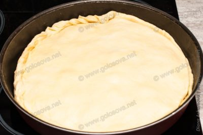 пирог с грибами из дрожжевого теста