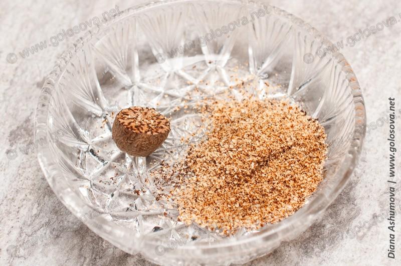 измельченный мускатный орех