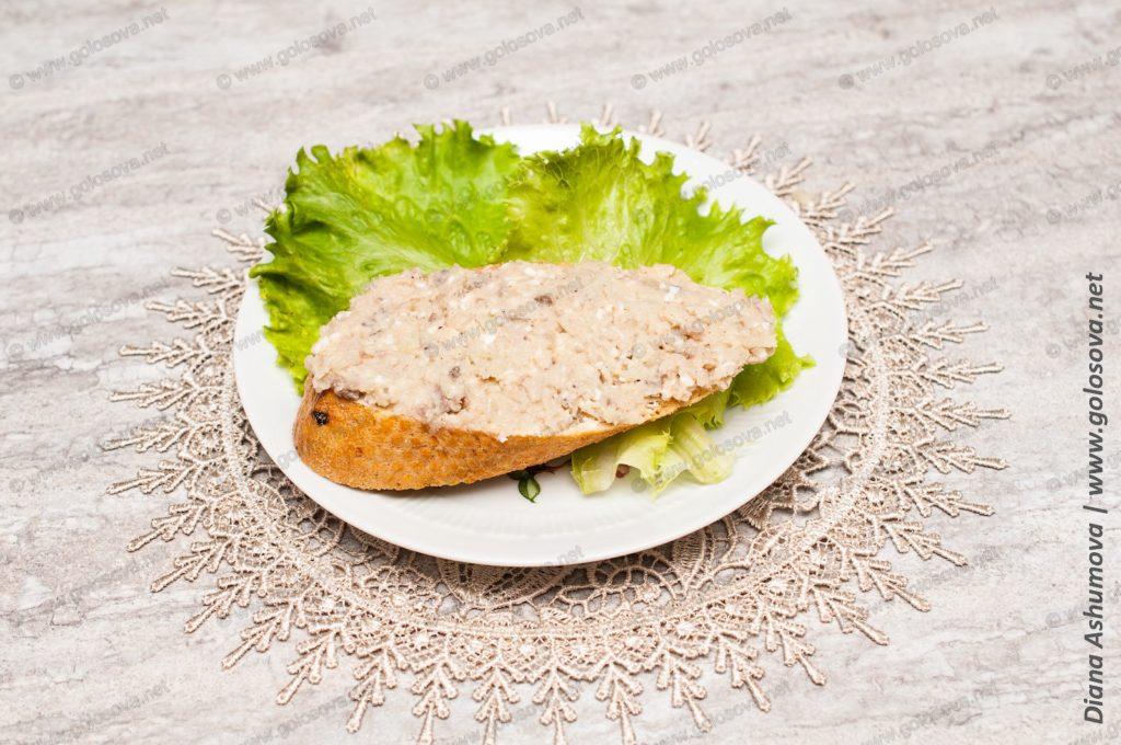 бутерброд с форшмаком из сельди с яблоком