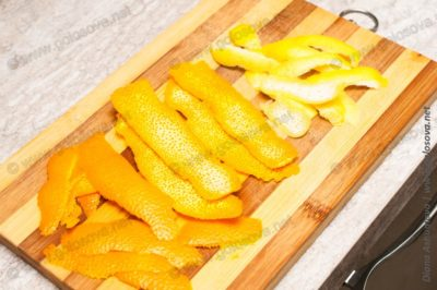 цедра апельсина и лимона