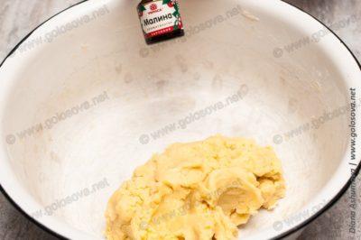 """простое песочное печенье """"Поленца"""" со вкусом малины"""